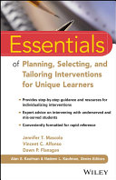 Essentials of Planning, Selecting, and Tailoring Interventions for Unique Learners [Pdf/ePub] eBook