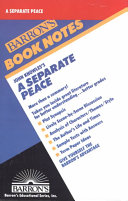 John Knowles s A Separate Peace Book