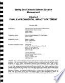 Bering Sea Chinook Salmon Bycatch Management, Regulatory Impact Review/initial Regulatory Flexibility Analysis