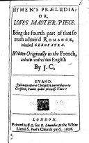 Hymen's Praeludia, Or, Love's Master-piece