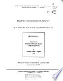 Guide to Instrumentation Literature