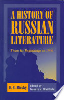 A History of Russian Literature from Its Beginnings to 1900