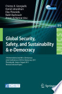 Global Security  Safety  and Sustainability Book