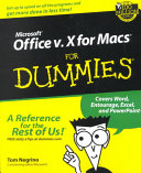 Microsoft Office v X for Macs For Dummies
