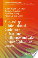 Proceedings of International Conference on Machine Intelligence and Data Science Applications