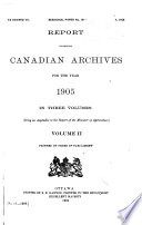Report of the Public Archives ...