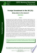 Foreign Investment in the US (II):Being taken to the cleaners?
