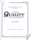 Operations Quality Council charter for Total Quality Environment