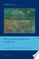 Phenomenology  Modernism and Beyond