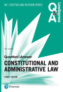 Question & Answer Constitutional and Administrative Law
