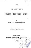 The Believer S Daily Remembrancer Book