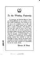 Specimen Book Book