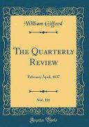 The Quarterly Review Vol 108