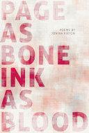 Page as Bone   Ink as Blood
