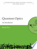 Quantum optics: an introduction