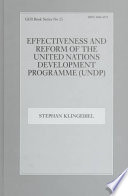 Effectiveness and Reform of the United Nations Development Programme (UNDP)