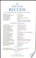 Le Nouveau Recueil N° 57 Décembre 2000-Février 2001 : Pourquoi publier