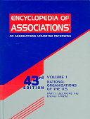 Encyclopedia Of Associations V1 National Org 43 Pt2