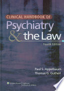 Clinical Handbook of Psychiatry   the Law Book
