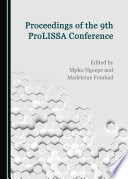 Proceedings Of The 9th Prolissa Conference Book PDF