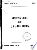 Staffing Guide for U S  Army Depots Book PDF