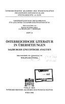 Österreichische Literatur in Übersetzungen