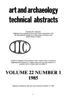 Art and Archaeology Technical Abstracts