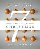 7 Days of Christmas B n Signed Copies  The Season of Generosity Book