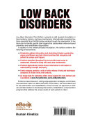 Low Back Disorders  3E