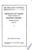 Abstracts of Masters' Theses