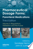 Pharmaceutical Dosage Forms Parenteral Medications Book PDF