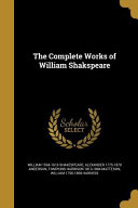 Comp Works Of William Shakspea