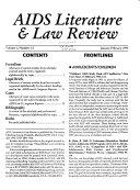 AIDS Literature   Law Review