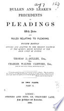 Bullen and Leake s Precedents of Pleadings Book