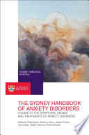 The Sydney Handbook of Anxiety Disorders Book