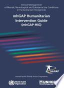 MhGAP Humanitarian Intervention Guide (mhGAP-HIG)
