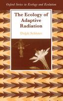 The Ecology of Adaptive Radiation