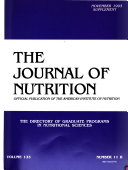 The Directory of Graduate Programs in Nutritional Sciences
