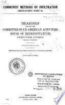 Hearings Before the Committee on Un-American Activities, House of Representatives, Eighty-third Congress, Second Session ...
