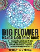 BIG Flower Mandala Coloring Book