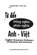 English Vietnamese dictionary of synonyms and antonyms