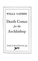 Death Comes For The Archbishop Pdf/ePub eBook