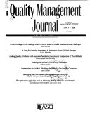 The Quality Management Journal