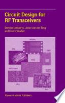 Circuit Design For Rf Transceivers Book PDF