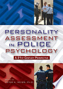Personality Assessment in Police Psychology Book