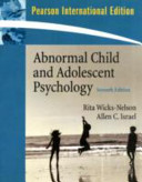 Cover of Abnormal Child and Adolescent Psychology