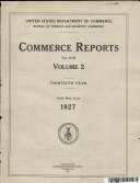 Commerce Reports Nos.14-26.Volume 2.Thirtieth Year.April,May,June 1927