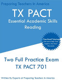TX PACT Essential Academic Skills Reading