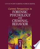 Current Perspectives in Forensic Psychology and Criminal Behavior Book
