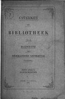 Catalogus der bibliotheek van de Maatschappij der Nederlandsche letterkunde te Leiden ...